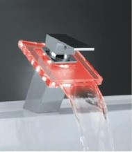 12PCS led waterfall basin bathroom faucet light with led lights change color according to water temperature(China)