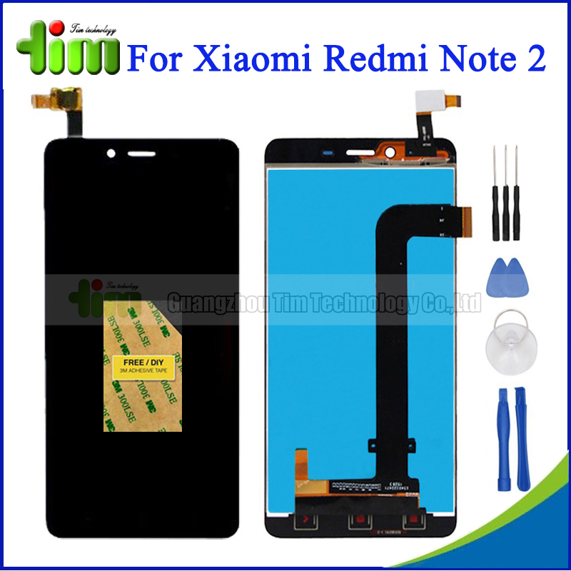 Original For Xiaomi Redmi Note 2 LCD Display + Touch Screen Digitizer Assembly Replacement + Tools+ Adhensive<br><br>Aliexpress