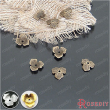 (20930-G)25PCS 10MM Antique Bronze Flower Beads Caps Diy Handmade Jewelry Findings Accessories Wholesale(China)