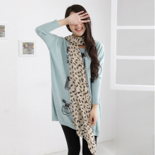New Promotion Wholesale Women's Chiffon Scarves Geometric Animals Cats Scarf Shawl Graffiti Style Girls Gift 160*40cm