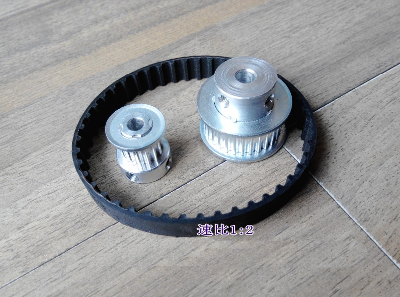 Timing belt pulleys HTD3M (2:1) 60T 30Teeth Timing Belt Pulleys TransmissionSynchronous belt deceleration<br>