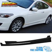 For Honda Accord 08-10 Coupe PU Urethane HF-P Style Side Skirts Lip Extensions Global Free Shipping Worldwide