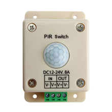 DC 12V 24V 8A PIR Sensor LED Dimmer Switch Motion Module Body Sign Control LED Strips Lighting