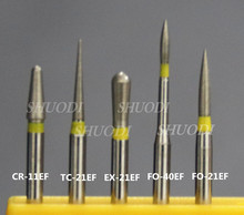 10 Pieces dental high speed bur diamond tooth Polishing bur 1.6mm (Select the types) Yellow