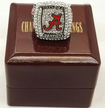 Wholesale 2016 New Arrival 2015 Alabama Crimson Tide National Zinc Alloy Replica Championship Ring With Wooden Boxes