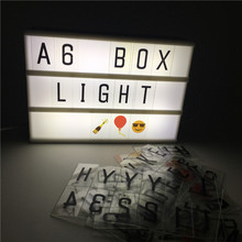 Leedome A6 Box Night Lamp Cinematic Lighting Battery Power Supply LED Cinema Lightbox Child Gift Light Home Bar Vintage Led Sign(China)