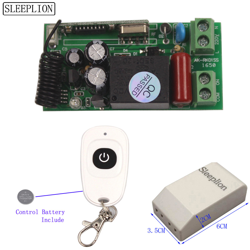 Universal Wireless Light Switch 220V Relay Receiver Module 2 Remote Controls 110V Switch 315433MHz (1)