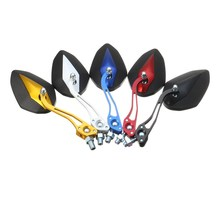 1 Pair 8/10mm 4 Colors PP plastic back shell Motorcycle Rearview Mirrors For Honda/Yamaha/Suzuki/Harley