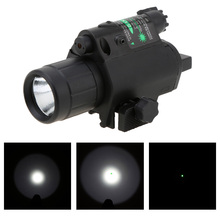2in1 Combo Tactical Q5 LED Flashlight/LIGHT 200LM +Green Laser Sight For pistol/gun Handgun Rail Full Metal
