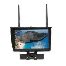 Galaxy D2 7 inch TFT 32CH FPV Monitor 5.8GHz LCD Screen Dual Receiver Built-in 4000mA Battry for RC Quadcopter FPV Multicopter(China)