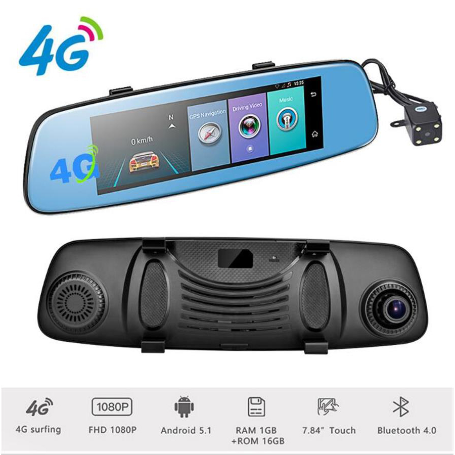 Hot 8 inch 4G Smart Rear Mirror DVR