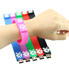 pen drive 8GB 16GB 32GB USB flash drive silicone bracelet wrist USB 2.0 Flash Memory handles USB Flash Drive U disk USB drive
