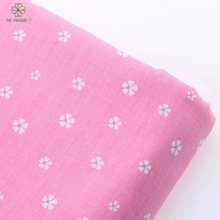 Rose series Arrivals 50x160 CM Pink Floral Cotton Fabric Meter Textile Sewing Patchwork Fabric For Dog Clothes Sofa CurtainMB-71