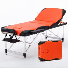 70cm Wide 3 Section Portable Massage Table Aluminum Facial SPA Bed Tattoo w/Free Carry Case Salan Furniture Spa Bed Tattoo Chair(China)