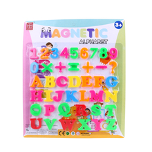 Children 3D Magnetic Puzzles Jigsaw Plastic Toys Alphabet Fridge Magnet Sticker Baby Early Learning Educational Toy