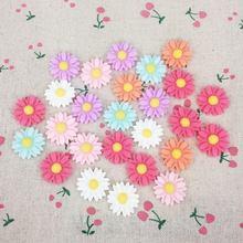 50 Pieces Mixed Color Flat Back Resin Cabochon Sun Flower DIY Flatback Decorative Craft Scrapbooking Accessoires:21mm