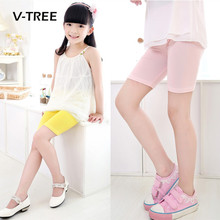V-TREE Summer Girls Shorts Candy Color Girls Safty Shorts Pant Kids Beach Pants Shorts Kids Trousers Childrens Pants 2-12 Year(China)