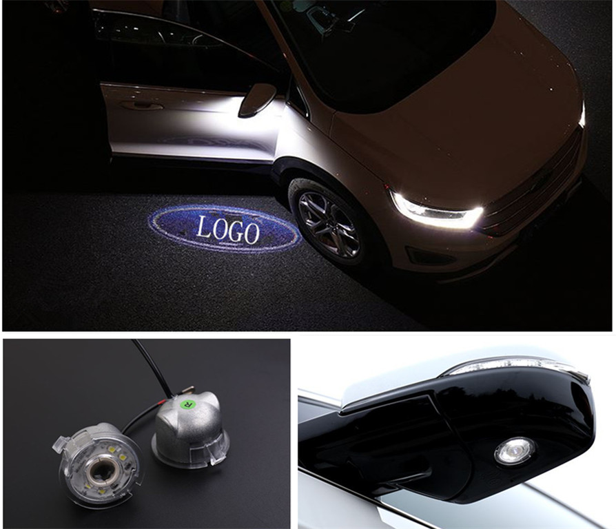 Free shipping, 2x Rear Side Mirror Laser LED Door courtesy Shadow Lights For Ford Edge 2010-2016<br><br>Aliexpress