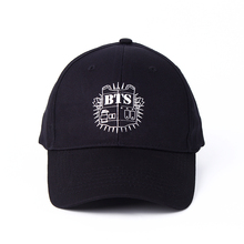 oupop KPOP Hat For BTS 2016 New Fashion Design Classic Black Sport Baseball Cap Hip-hop Cap Wholesale