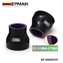 "EPMAN - 2""-2.24"" Silicone Straight Reducer Hose Silicon Turbo Black (51mm-57mm) For BMW MINI Cooper S R53 KIT 2001- EP-SS0R5157(China)"