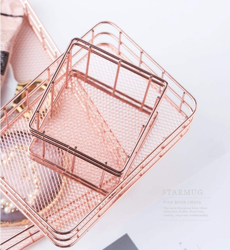 Rose Gold Storage Basket