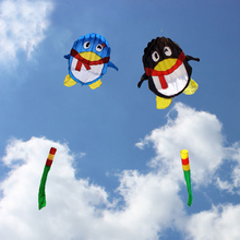 free shipping high quality 2m penguin kite qq prince soft kite with handle weifang kite string power pro hcxkite factory(China)
