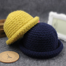 2017 Autumn Winter New Hot Fashion Children Caps for Baby Girls and Boys Thick Warm Knitting Child Hats Fedoras Baby Clothing(China)