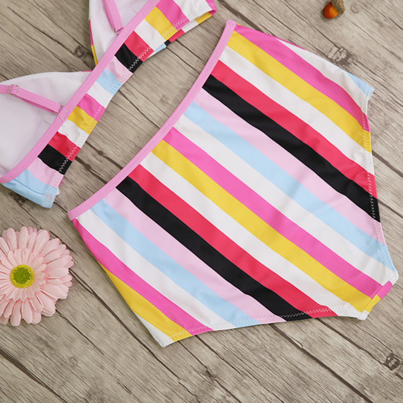 High Waist Swimsuit, Women's Bandage Top Push Up Swimwear, Female Bathing Suit 43