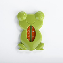 Floating Lovely Frog Shape Water Float Baby Bath Toy Thermometers Tub Watering Sensor Thermometer 4 Color T0214(China)