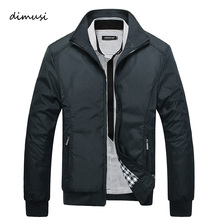 DIMUSI 2017 Spring Autumn Men's Jacket Male Overcoat Casual Solid Jacket Slim Fit Stand Collar Zipper Men Jackets Coat 5XL,YA684(China)