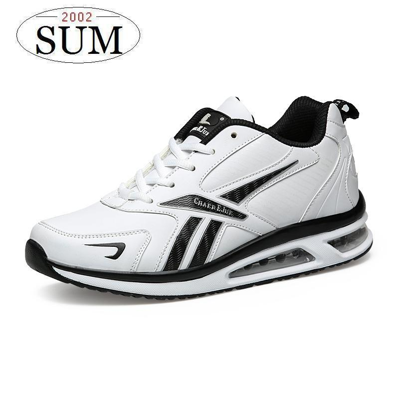 light Runing men sneakers air sole comfortable DMX mens running shoes lace up brand design sport shoes white black color<br>
