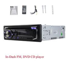 1 din CD DVD Player 1din car headunit fix panel Car Stereo USB SD FM Aux-in car Radio player MP3 single din In dash