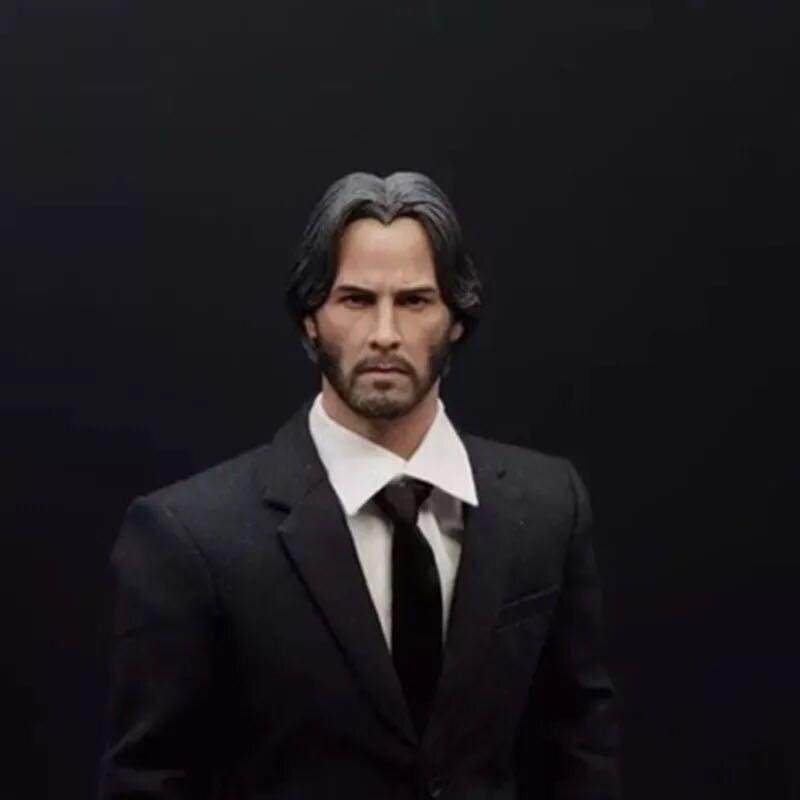 "Custom 1//6 John Wick HEAD SCULPT FOR Keanu Reeves 12/"" Hot Toys figure U.S.A."