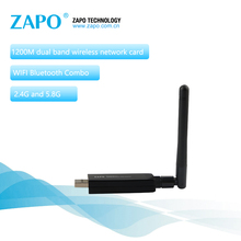 ZAPO 1200Mbps Wireless AC USB 3.0 Lan Adapter 5.8G WIFI 2dbi Antenna Add Bluetooth 4.1 Network Card For Windows Linux Android