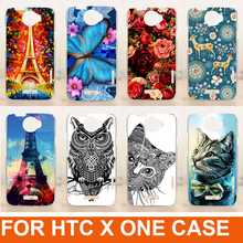 new arrival 14 patterns painting colored animals flowers design cartoon case phone back cover for HTC One X G23 s720e cover
