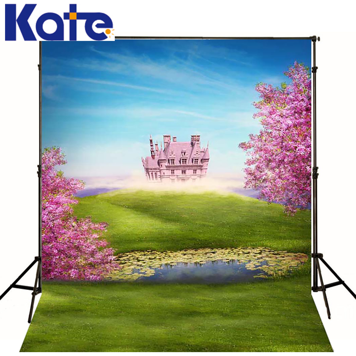 Kate Fairy Tale Castle Photography Background Spring Scenery Forest Wedding Backdrops for Children Photo Shoot <br>