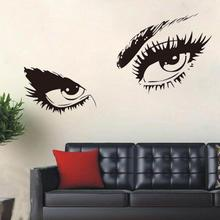 Sexy Eyes Wall Sticker Home Decor Vinyl Art Home Black Decor Large Wall Decals Wall Stickers