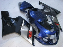 Fairing Kits GSXR 600 04 Fairings GSX R750 2004 2004 - 2005 K4 Blue Abs Fairing for Suzuki GSXR750 04(China)