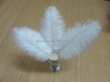Free shipping 100pcs/lot multicolor 20-25cm/8-10Inch white ostrich feathers plumage cheap bulk feathers for wedding(China)