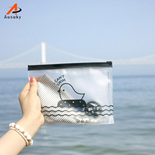 Waterproof Travel Cartoon Chicken Print Make Up Bags 200x140mm Transparent Cosmetic Bag Pouch Case Pencil Bags Toiletry Bag 15