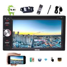 Android 6.0 Double Din Car DVD Player 6.2'' Car Stereo In Dash Support Bluetooth OBD2 Mirrolink 1080P Video+ External Microphone(China (Mainland))