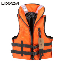 Lixada Adult Safety Life Jacket  Professional Survival Vest Swimming Boating Drifting Life Vest with Emergency Whistle