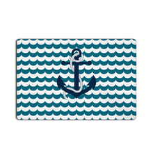 CHARMHOME Custom Doormat Anchor Door Mat Sexy Model Mats Wave Stripe Rugs Bathroom Carpet Kids Rome Drama Actress Cushion(China)