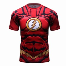 2017 NEW Style Big Ande Avengers Superhero Marvel Shirt Compression Tight Shirt Muscle T-Shirt High Quality Punisher Men T Shirt