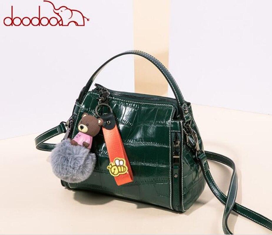 Original DOODOO Famous Brands Messenger Bags Vintage PU Leather Tote Bag Shoulder Bag For Women feminina bolsa FR571 <br>