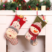 Christmas Stockings Socks Santa Claus Toys Candy Gift Bag Xmas Tree Decor Christmas Decorations Festival Party Ornament Kerst