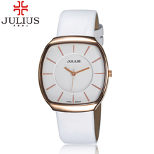 2017 Julius Brand Popular Men Women Quartz Business Wristwatches Leather Simple Lovers Couple Watch Clock Relogio Masculino Gift