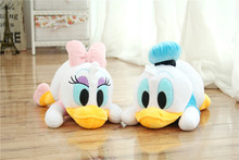 prone Donald Duck , Daisy duck plush toy soft throw pillow ,Christmas gift h368(China)