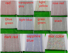 SS6 A grade colorful crystal glass 2mm rhinestones clear plastic cup banding crafts clothes applique wedding setting chain 1yard(China)