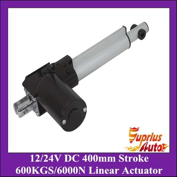 DC 12V/24V 16inch/400mm stroke 5mm/s linear actuator , 6000N/600kgs load heavy duty linear actuator<br>